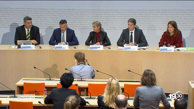Karin Keller-Sutter et Hans Wicki sur le ticket PLR pour le Conseil fédéral. [RTS]