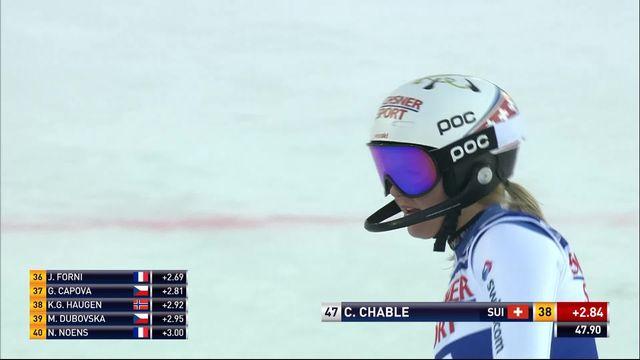 Levi (FIN), Slalom dames, 1re manche: le passage de Charlotte Chable (SUI) [RTS]