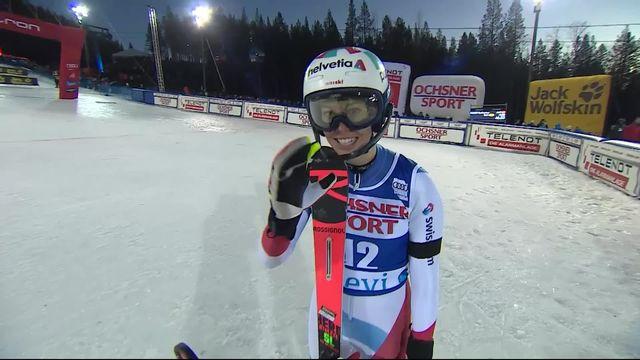 Levi (FIN), Slalom dames, 2e manche: le passage de Michelle Gisin (SUI) [RTS]