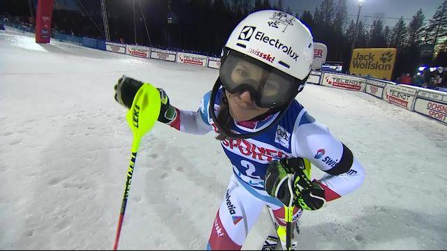 Levi (FIN), Slalom dames, 2e manche: Wendy Holdener (SUI) 2e provisoire [RTS]