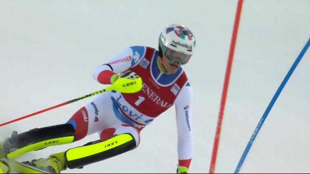 Levi (FIN), Slalom messieurs, 1re manche: Daniel Yule (SUI) est le premier à s'élancer [RTS]