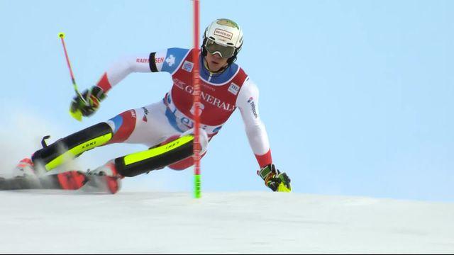 Levi (FIN), Slalom messieurs, 1re manche: le passage de Ramon Zenhäusern (SUI) [RTS]