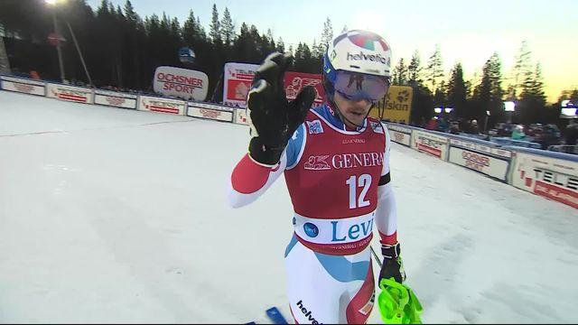 Levi (FIN), Slalom messieurs, 2e manche: Luca Aerni (SUI) [RTS]