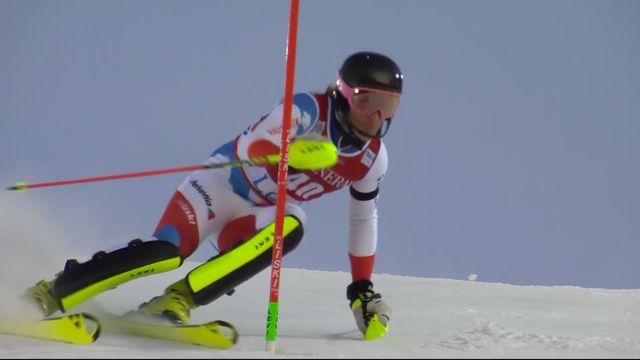 Levi (FIN), Slalom messieurs, 2e manche: superbe première course de Tanguy Nef (SUI) [RTS]