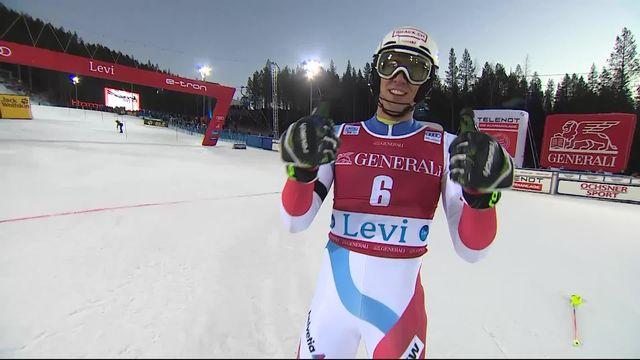 Levi (FIN), Slalom messieurs, 2e manche: Ramon Zenhäusern (SUI) [RTS]