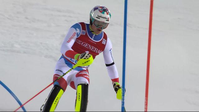 Levi (FIN), Slalom messieurs, 2e manche: Daniel Yule (SUI) [RTS]