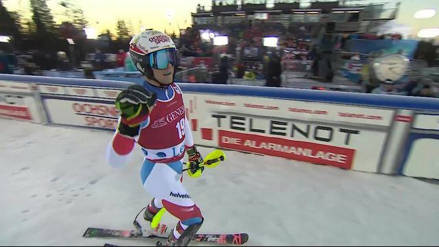 Levi (FIN), Slalom messieurs, 2e manche: Loïc Meillard (SUI) [RTS]