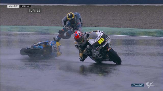 MotoGP, GP d'Espagne (#19): chute de Thomas Lüthi (SUI) qui ne marquera pas de point cette saison [RTS]