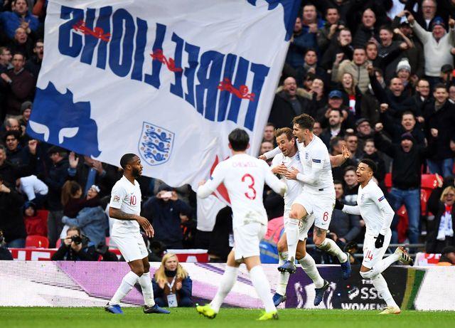 Kane a donné l'avantage aux Anglais dans les dernières minutes [FACUNDO ARRIZABALAGA - Keystone]