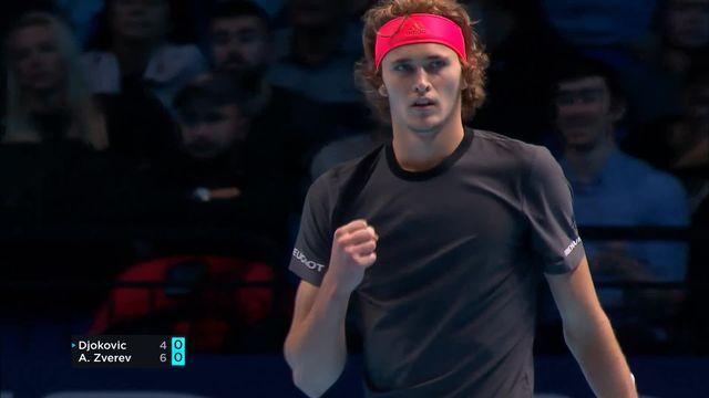 Finale, N.Djokovic (SRB)- A.Zverev (ALL) (6-4): l'Allemand empoche le 1er set [RTS]