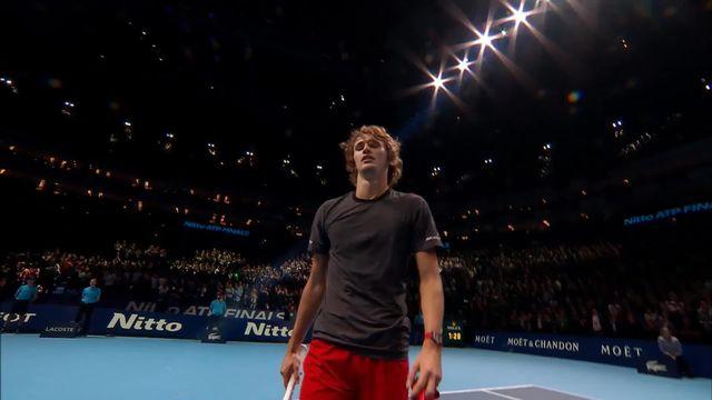 Finale, N.Djokovic (SRB)- A.Zverev (ALL) (4-6 3-6): Zverev remporte le Masters de Londres! [RTS]