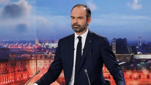 """Edouard Philippe s'est exprimé au sujet des """"Gilets jaunes"""" dans le 20h de France 2. [Geoffroy VAN DER HASSELT  - AFP]"""
