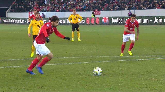 Gr.2, Suisse – Belgique (1-2): 26e, Ricardo Rodriguez marque sur penalty [RTS]