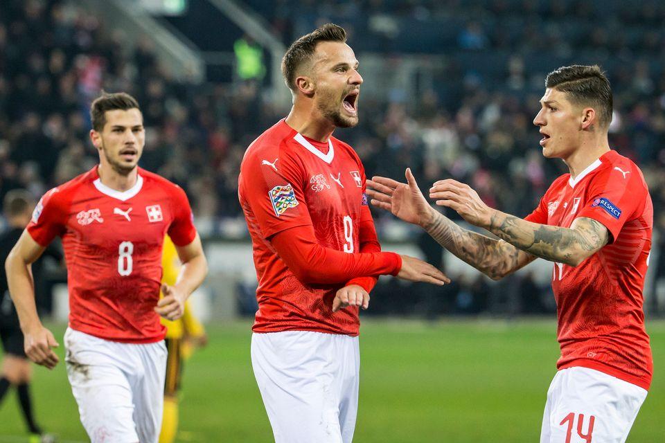 Seferovic a réalisé un superbe match contre la Belgique. [Alexandra Wey - Keystone]