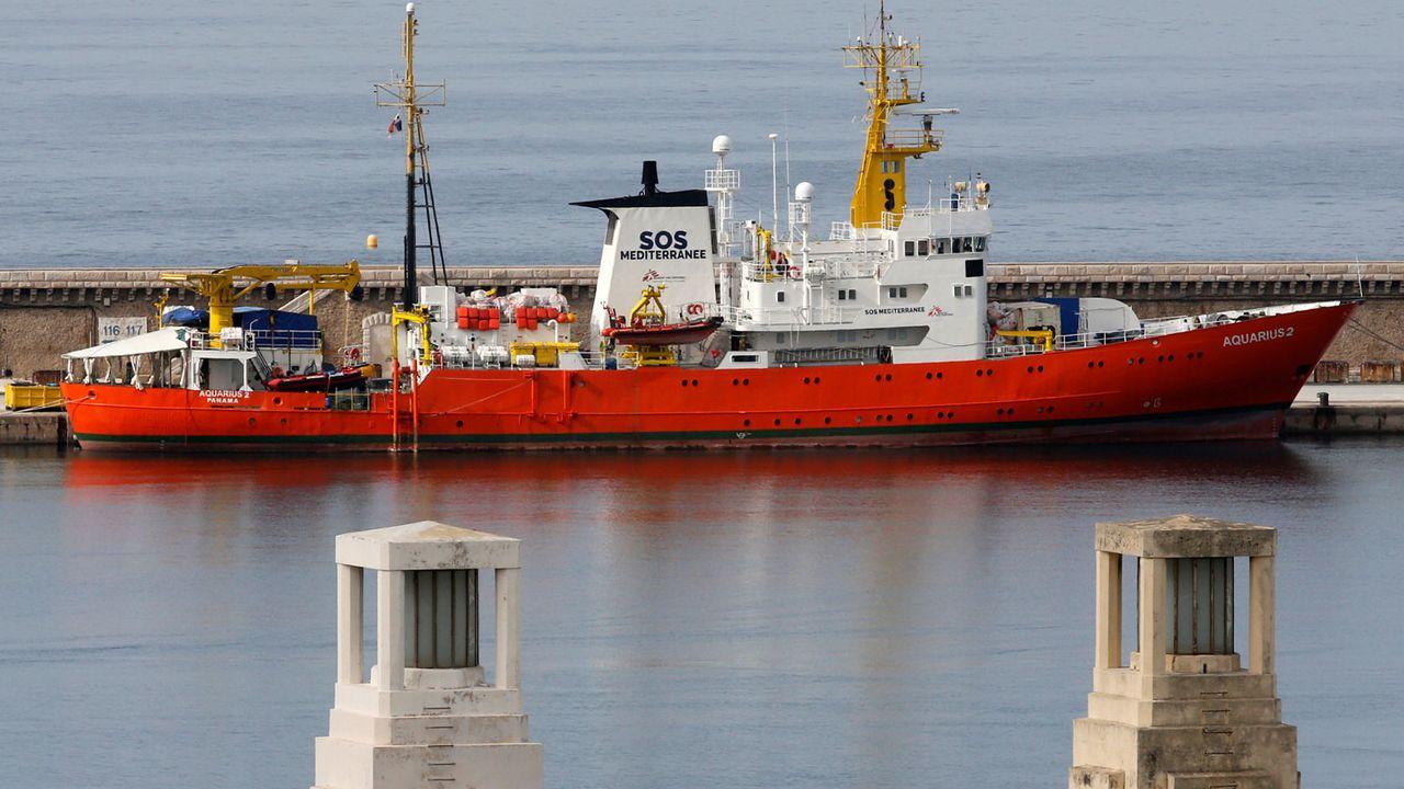 L'Aquarius est à quai à Marseille depuis le 4 octobre dernier. [Jean-Paul Pelissier - Reuters]