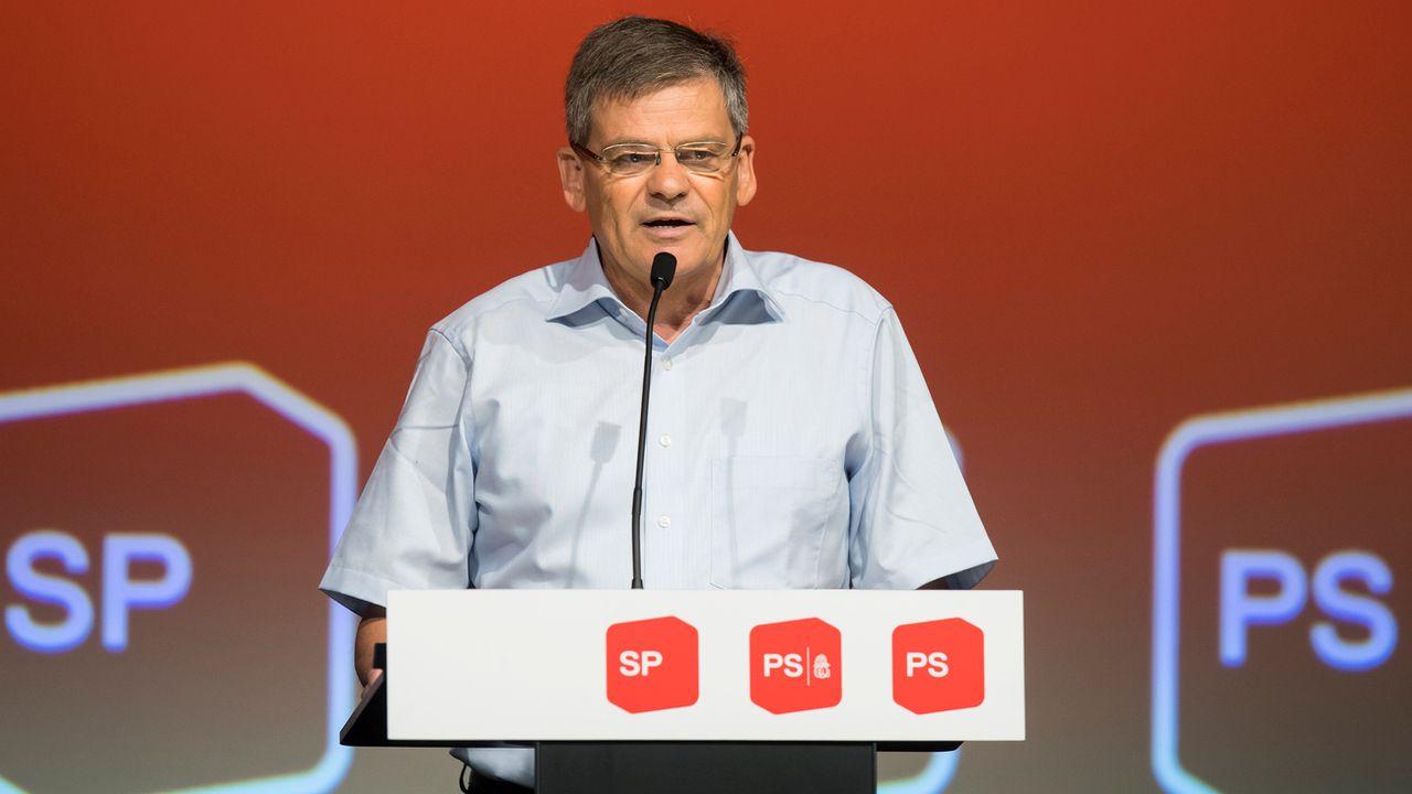 Benoît Piller, président du PS fribourgeois. [Jean-Christophe Bott - KEYSTONE]