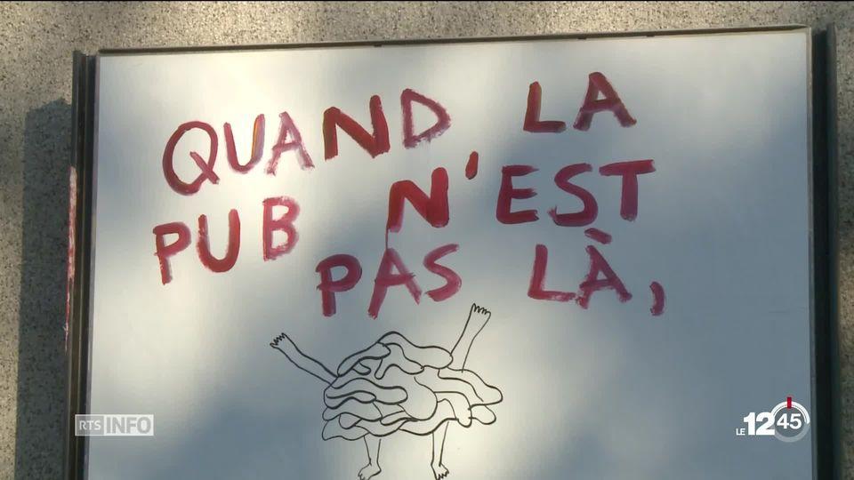 """Première victoire pour l'initiative """"Zéro pub"""" à Genève. La justice genevoise vient de statuer en faveur des initiants. [RTS]"""