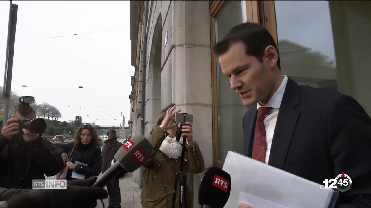 Affaire Pierre Maudet: le PLR genevois n'a pas appelé le magistrat à la démission à l'issue de la réunion du comité directeur. [RTS]