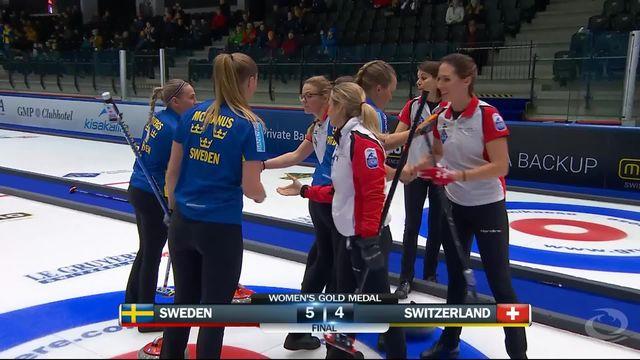 Finale, championnat d'Europe: la Suède s'impose sur le fil face à la Suisse 5-4 [RTS]