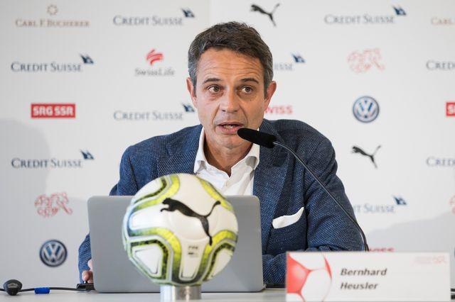 Bernhard Heusler lors de la conférence de presse ce samedi. [Peter Klaunzer - Keystone]