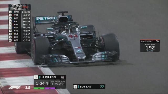 F1, essai d'Abu Dhabi (EAU): Hamilton (GBR) partira en pôle position devant Vettel (GER) et Bottas (FIN) [RTS]