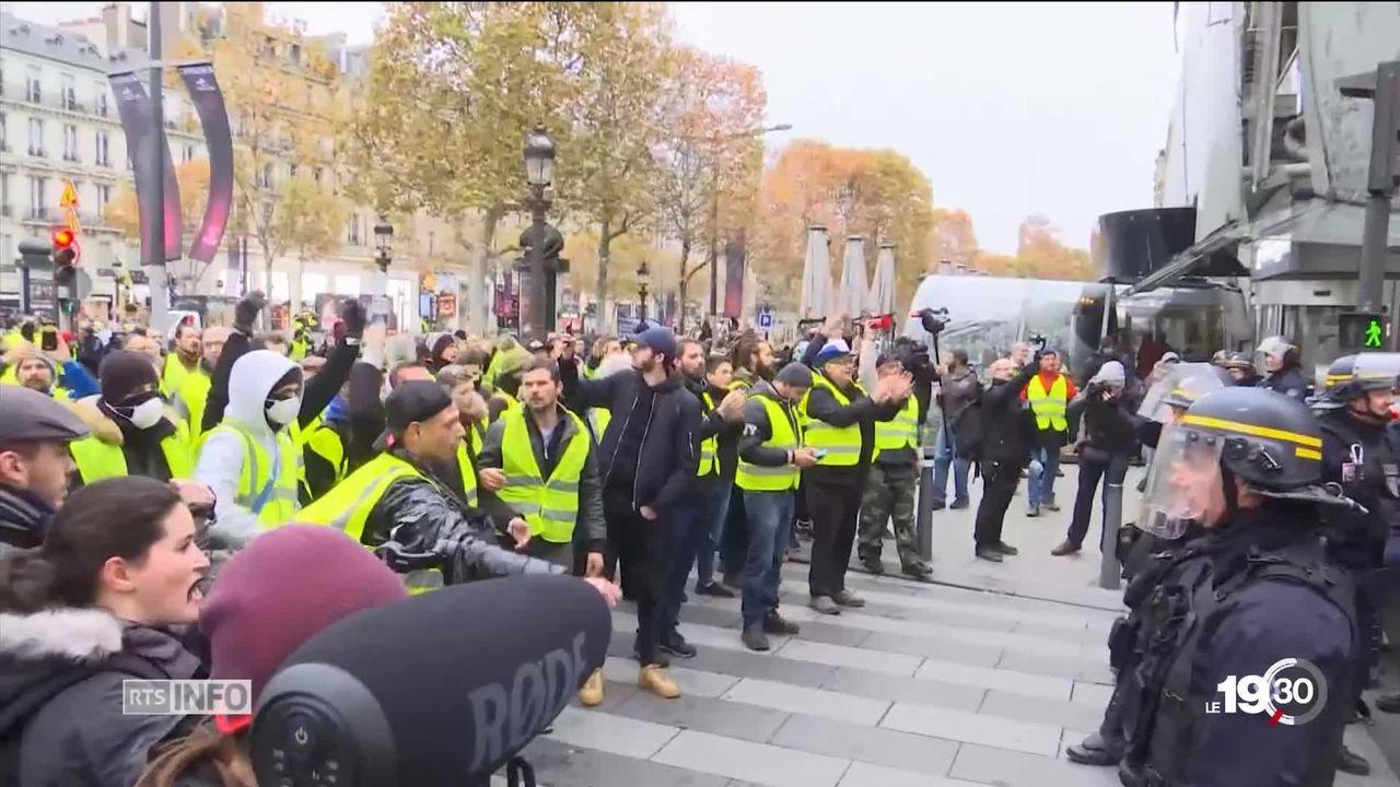 France: Les mobilisations des gilets jaunes dégénèrent à Paris [RTS]