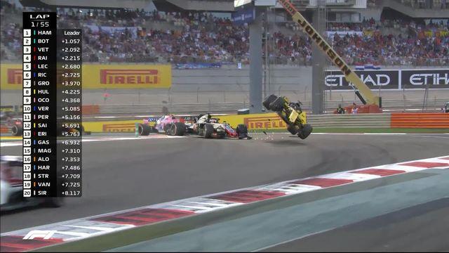 GP d'Abu Dhabi: grosse frayeur pour Nico Hulkenberg (GER) après plusieurs tonneaux [RTS]
