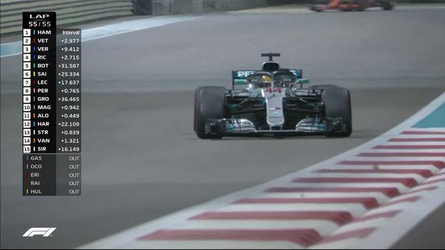 GP d'Abu Dhabi: Lewis Hamilton (GBR) s'impose pour le dernier Grand-Prix de la saison [RTS]