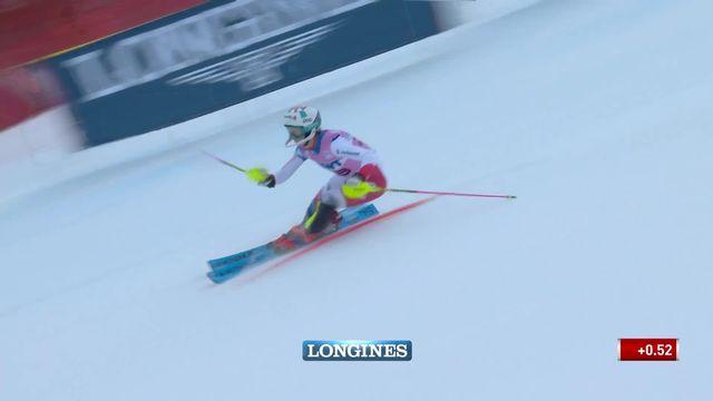 Slalom de Killington (USA), 1re manche dames: Aline Danioth (SUI) [RTS]