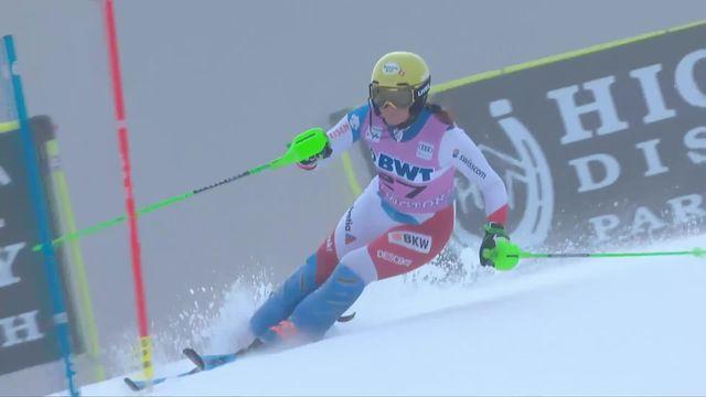 Slalom de Killington (USA), 1re manche dames: Carole Bissig (SUI) [RTS]