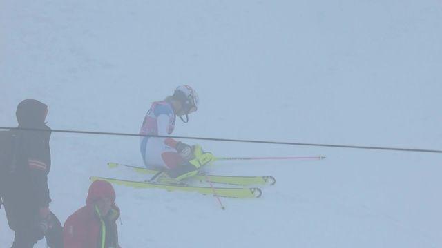 Slalom de Killington (USA), 1re manche dames: Charlotte Chable (SUI) chute et est éliminée [RTS]
