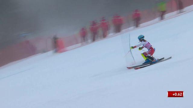 Slalom de Killington (USA), 1re manche dames: Elina Stoffel (SUI) [RTS]