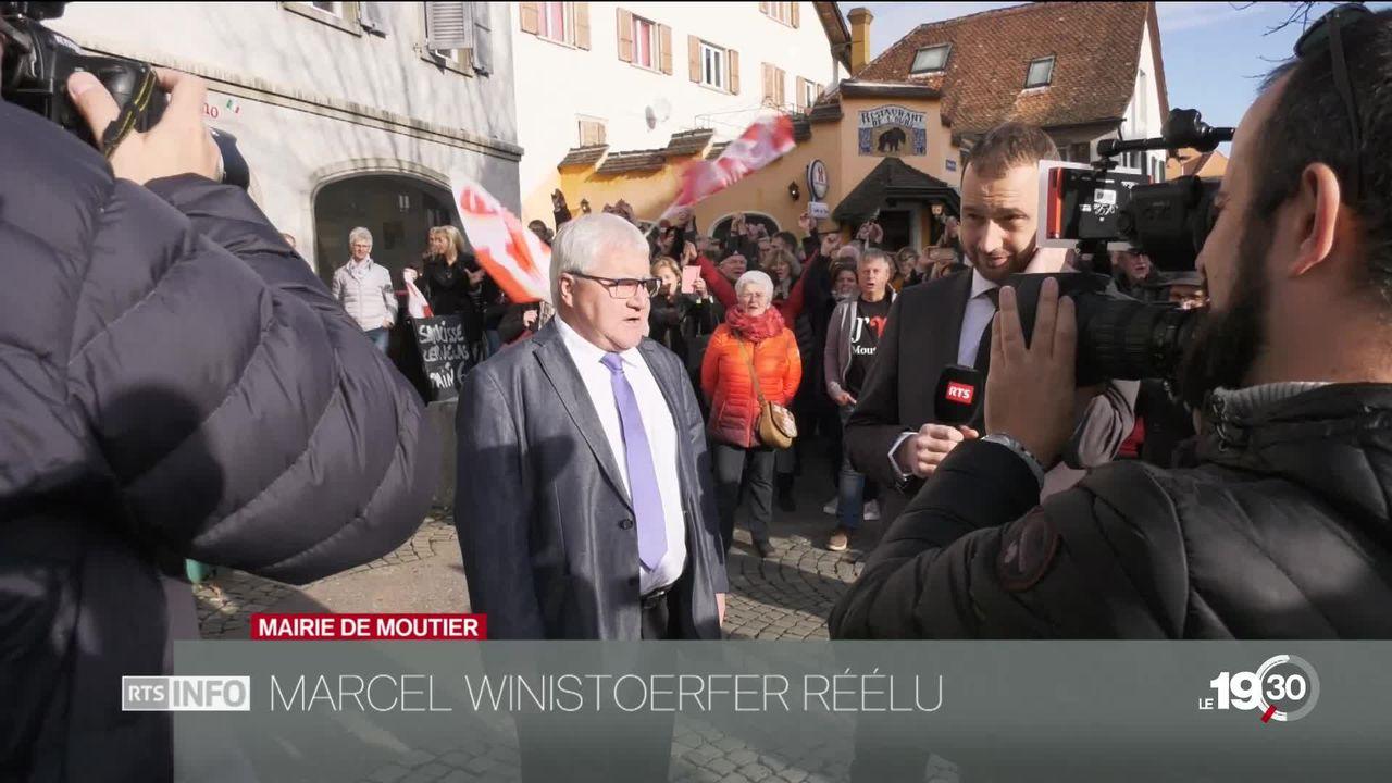 Le maire autonomiste de Moutier Marcel Winistoerfer a été réélu [RTS]