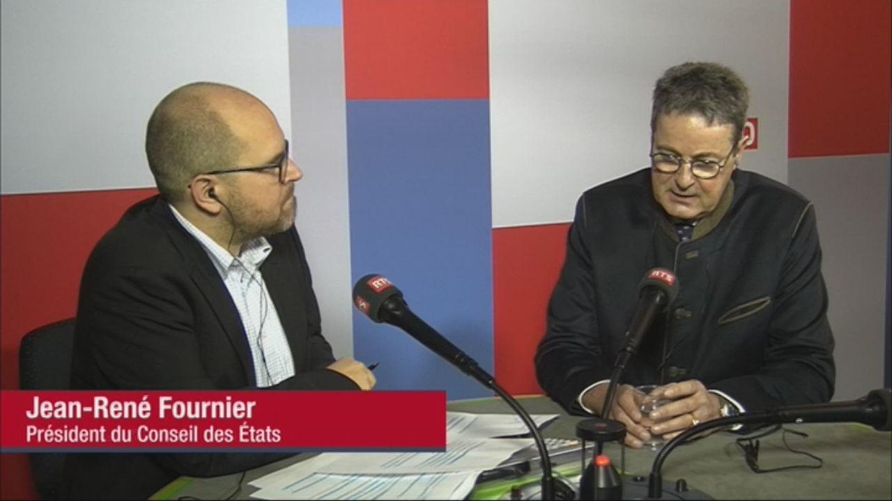 L'invité de Romain Clivaz (vidéo) - Jean-René Fournier, nouveau président du Conseil des Etats [RTS]