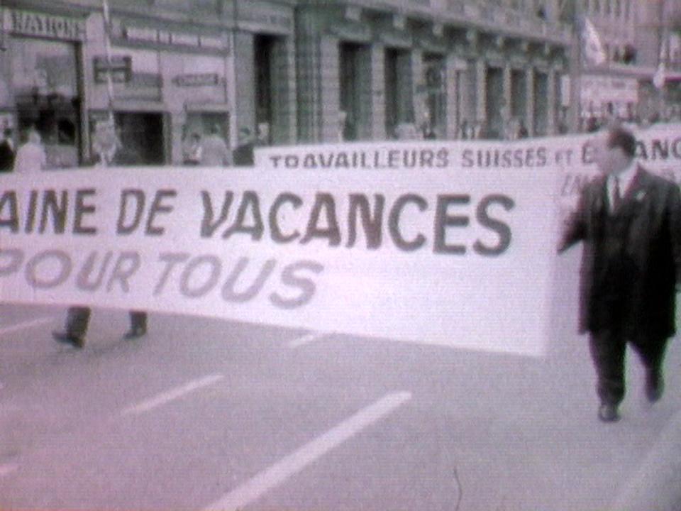 L'histoire des luttes syndicales en Suisse. [RTS]