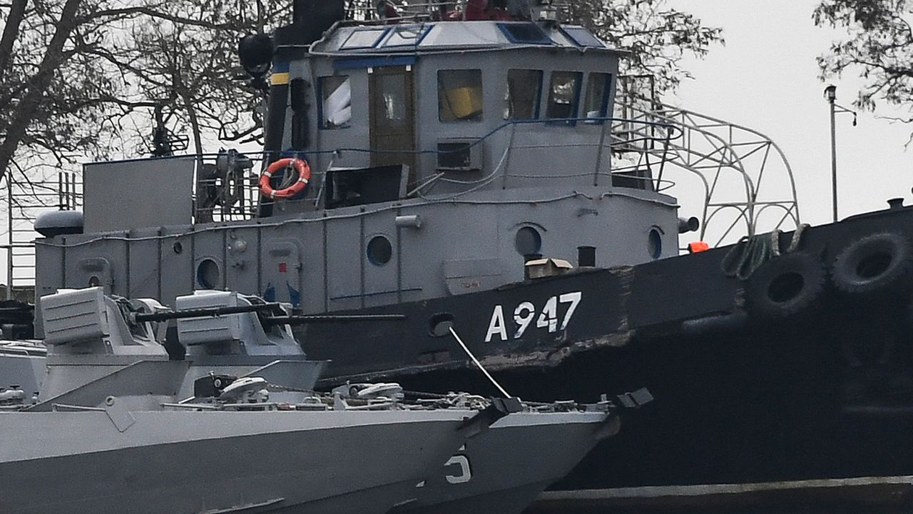Les forces russes ont capturé dimanche trois navires ukrainiens. [AP]