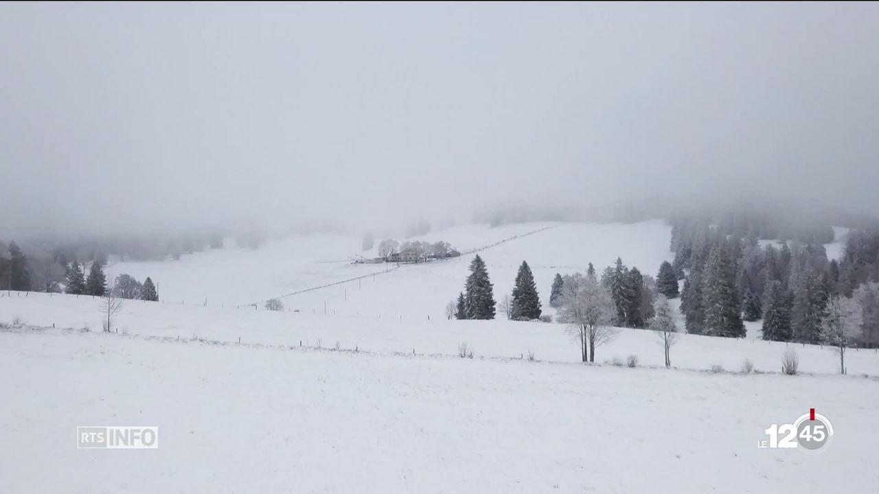Dans le Jura bernois, un projet de parc éolien doit affronter plusieurs oppositions. [RTS]