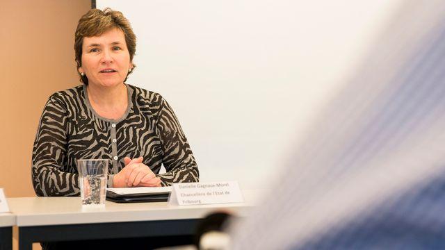 Danielle Gagnaux-Morel, chancelière de l'Etat de Fribourg. [Cyril Zingaro - KEYSTONE]