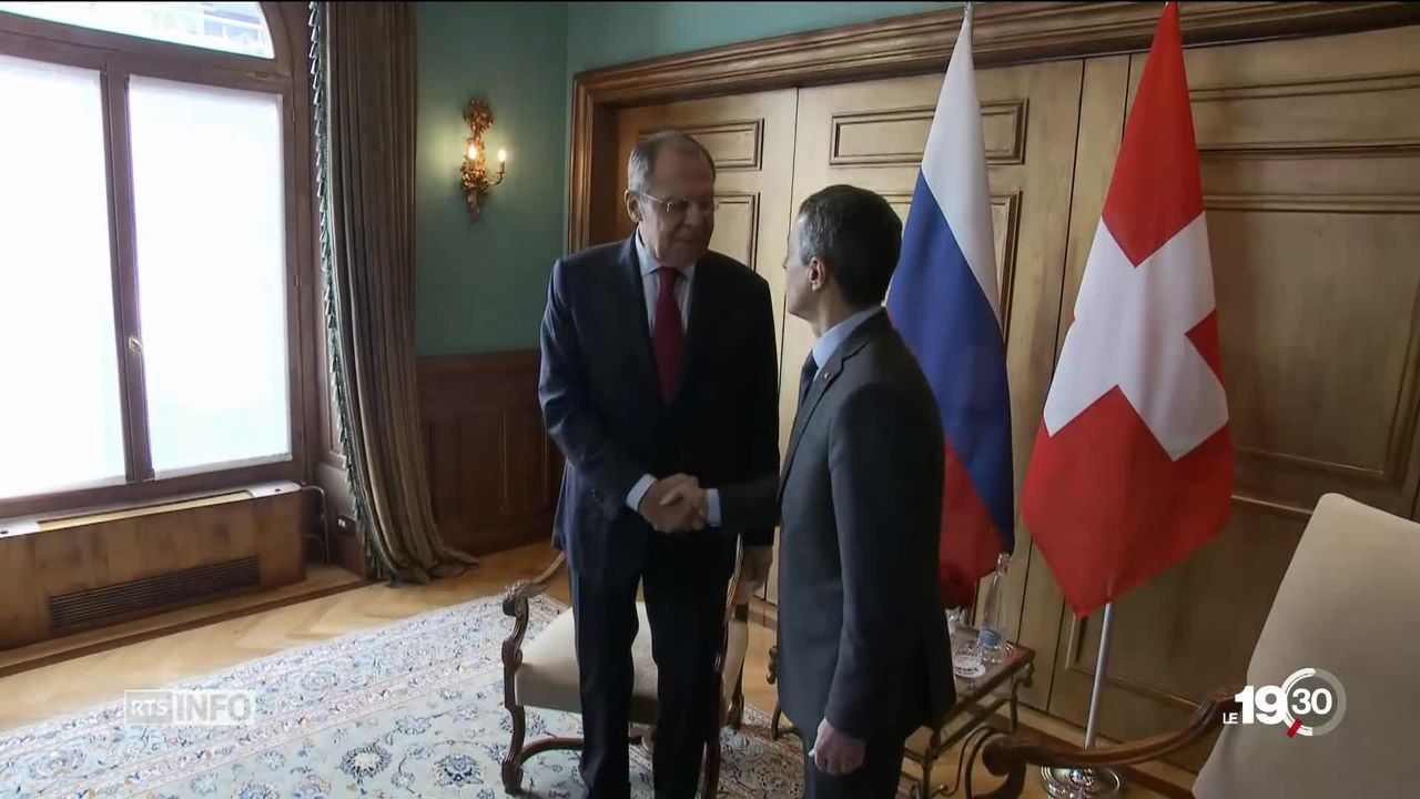 Rencontre Cassis-Lavrov : volonté d'apaisement entre Suisse et Russie [RTS]