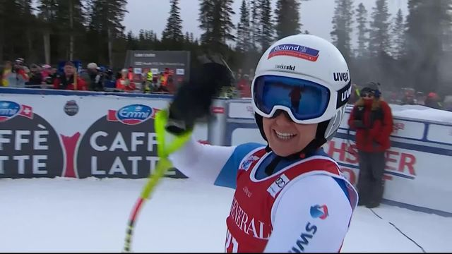 Lake Louise (CAN), Descente dames: le passage de Joana Haehlen (SUI) [RTS]