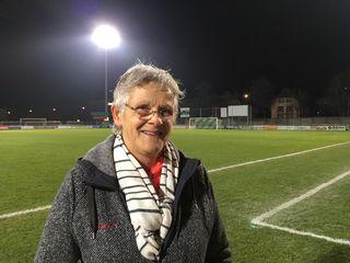 Linda Vialatte, 60 ans, dont 31 passés à la tête du FC Yverdon Féminin. [RTS - Reuters]