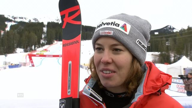 Descente femmes,  Lake Louise (CAN): la réaction de Michelle Gisin [RTS]