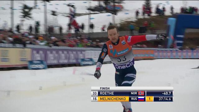 Lillehammer (NOR), 15km messieurs: Dario Cologna 4ème, victoire de Sjur Roethe (NOR) [RTS]