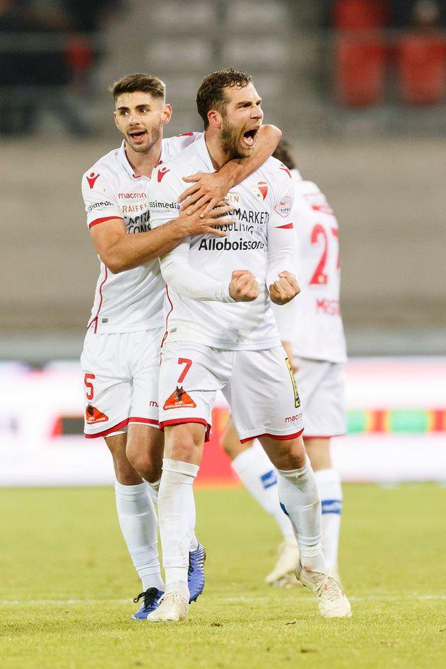 Le FC Sion peut dire merci à Kasami, auteur du 1-0. [Cyril Zingaro - Keystone]