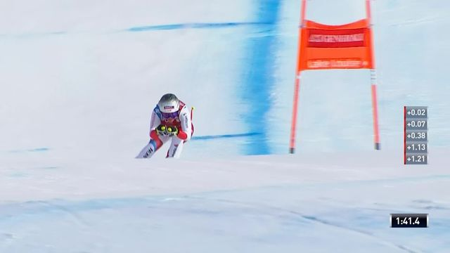 Lake Louise (CAN), descente dames: Corinne Suter (SUI) [RTS]