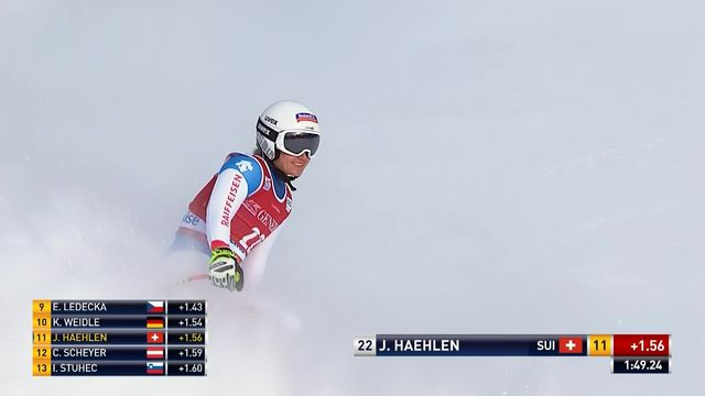 Lake Louise (CAN), descente dames: Joana Hählen (SUI) [RTS]