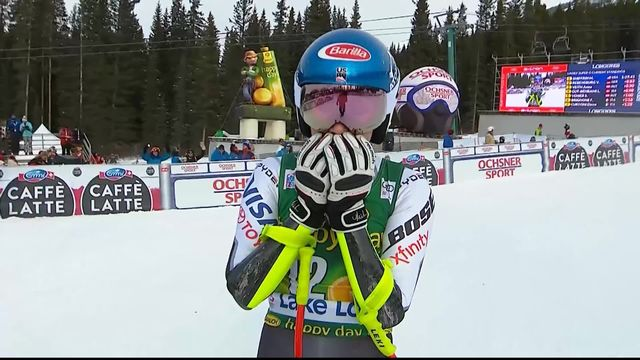 Lake Louise (CAN), Super-G dames: Mikaela Shiffrin (USA) [RTS]