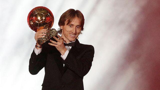 Luka Modric est devenu le premier Croate à remporter le Ballon d'Or. [Yoan Valat - Keystone]