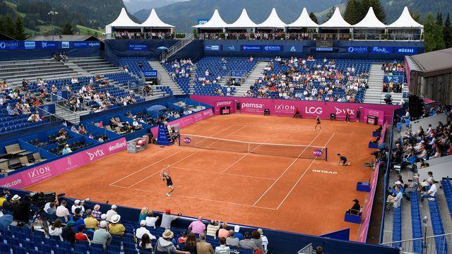 A Gstaad, le tournoi ne suscitait qu'un intérêt poli. [Anthony Anex - Keystone]