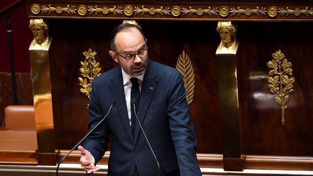 Le Premier ministre français Edouard Philippe devant l'Assemblée Nationale le 5 décembre. [Alain Jocard - AFP]